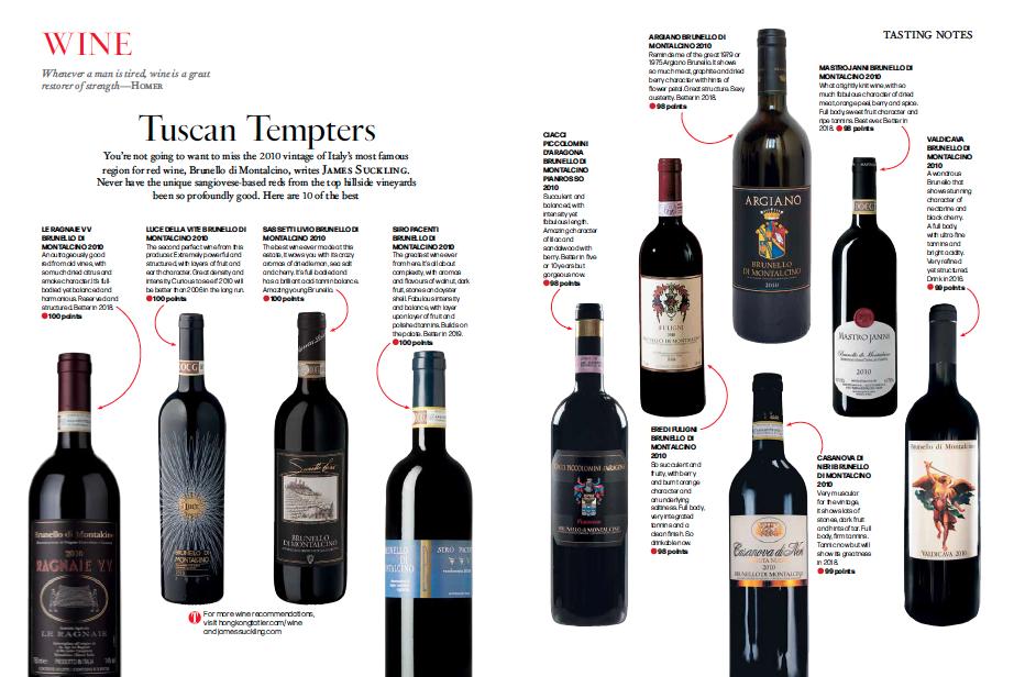 My Article: Top 10 Brunellos of 2010 - JamesSuckling com